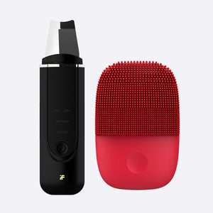 Upgrade Version Facial Cleansing Brush & Ultrasonic Ion Cleansing Skin Scrubber-beauty-betahavit-Black and Red-China-betahavit