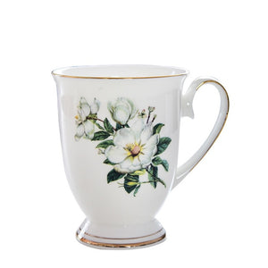 1/2/4PC 300ML Bone China Funny Coffee Mugs Porcelain Floral Painting Espresso Cups Vintage Countryside Drinkware Tea Cup-home-betahavit-1pc-betahavit