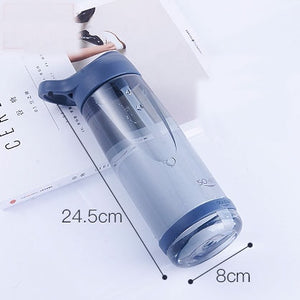 1000ml Outdoor Water Bottle with Straw Sports Bottles Eco-friendly with Lid Hiking Camping Plastic 35-home-betahavit-1000ml-Blue-betahavit