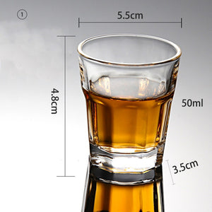 1PCS Crystal Cup Shot Glass Cup Creative Spirits Wine Glass Cup glasses Party Drinking Charming Thick Bottom Cup 35-home-betahavit-01-50ml-betahavit