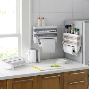 Kitchen Refrigerator Hang Film Storage Cutting Holder Wrap Cutter Tin Sheets Paper Towel Holder Kitchen Shelf Hook-home-betahavit-betahavit