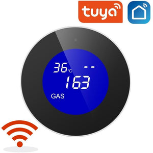 LCD display Tuya WiFi GAS LPG Leak Sensor alarm Fire Security detector APP Control home Safety smart Temperature monitoring-home-betahavit-betahavit