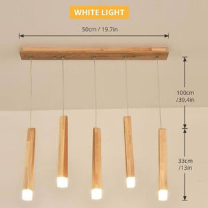 Led Pendant Lamp matchstick Pendant Lamp wooden light creative pendant lamp bar saloon restaurant home Modern solid wood Lamp-home-betahavit-5head white light-betahavit