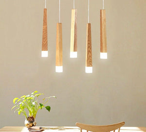 Led Pendant Lamp matchstick Pendant Lamp wooden light creative pendant lamp bar saloon restaurant home Modern solid wood Lamp-home-betahavit-betahavit