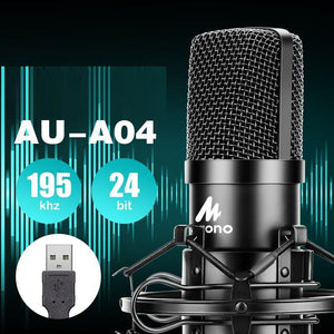 AU-A04 usb microphone for computer studio microfono kit condenser microphone professionnel Podcast Mic pc singing Youtube-electronic-betahavit-China-AU-A04-betahavit
