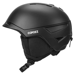 Men Women Detachable Liner Ski Helmet Integrally-molded Skiing Helmet For Adult Snow Helmet Safety Snowmobile Snowboard Helmet-outdoor-betahavit-Black-L-betahavit