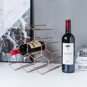 Metal Creative Geometric Wine Rack Nordic Simple Household Grape Wine Rack Restaurant Living Room Bar Cabinet Display-home-betahavit-betahavit