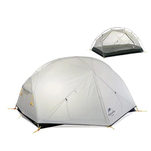 3 Season Mongar Camping Tent 20D Nylon Fabic Double Layer Waterproof Tent for 2 Persons NH17T007-M-outdoor-betahavit-betahavit