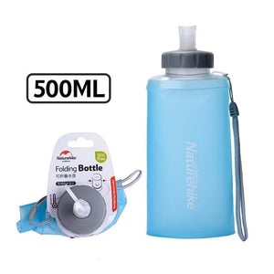 500ML Mini Sports Bottle Water Bottles Outdoor Cup Portable Silicone Folding Drinkware With Straw NH61A065-B-outdoor-betahavit-500ML Blue-betahavit