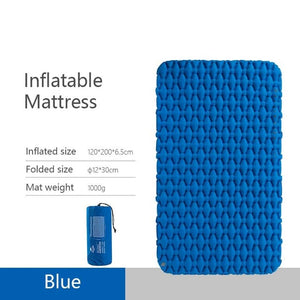 Lightweight Moisture-proof Air Mattress Nylon TPU Sleeping Pad Inflatable Mattress Camping Mat For 2Person NH19Z055-P-outdoor-betahavit-Blue-China-betahavit