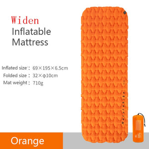 Nylon TPU Sleeping Pad Lightweight Moisture-proof Air Mattress Portable Inflatable Mattress Camping Mat NH19Z032-P-outdoor-betahavit-Orange-Widen-China-betahavit