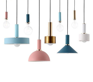 Nordic Macarons pendant lights E27 LED modern creative hanging lamp design DIY for bedroom living room kitchen restaurant-home-betahavit-betahavit