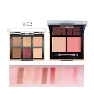 2 In 1 Eyeshadow Palette 6 Color + Blush Powder 2 Color Easy To Wear Pigment Makeup Kit For Daily Use-beauty-betahavit-9982-3-betahavit