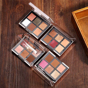 4pcs/set 6 Colors Eyeshadow Palette + 2 Colors Blusher With Brush Cosmetics Kit-beauty-betahavit-4pcs in one set-betahavit