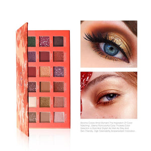 Eye Shadow Matte Shimmer Pigment Powder 18 Colors Long Lasting Makeup Brown Purple Eyeshadow Make Up Palette New Arrival-beauty-betahavit-9995 eye shadow-betahavit