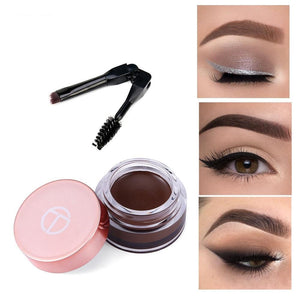 Eyebrow Enhancers With Brush Eyes Makeup Eye Brow Cream Long-lasting Waterproof Brown Eyebrows Gel-beauty-betahavit-betahavit
