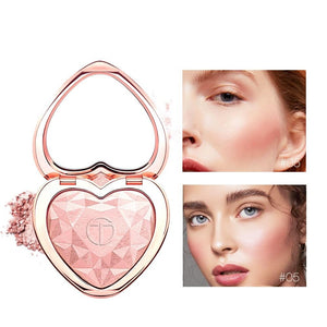 Highlighters Makeup Powder Natural Shimmer Highlighter Palette High Pigments Heart Shape Glow Kit Illuminator Cosmetics-beauty-betahavit-05 PINK GLOW-betahavit