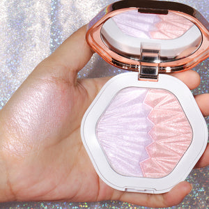Shell Highlighter Makeup For Body Face Radiance Long Lasting Fluorescence Contouring Highlighters Powder Palette Bronzer-beauty-betahavit-Prismatic Amethyst-betahavit