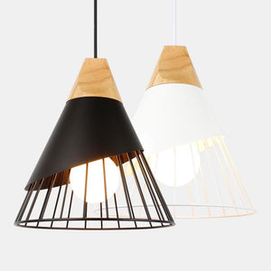 Pendant Lamp Modern E27 Pendant Lights Wood For Bedroom Hanging Lamp Nordic Aluminum Lampshade LED Bulb Kitchen Light-home-betahavit-betahavit
