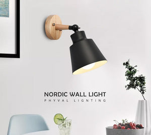 Wood Lamp Bedroom 10mm Wooden base Wall Lamp With Plug Macaron Modern Wall Sconce For Liviing Room-home-betahavit-betahavit