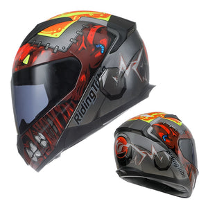 Personality Dirt Bike Four Seasons Street Racing Protect Full Face Motorcycle Helmet with Removable Winter Neck Scar-outdoor-betahavit-betahavit