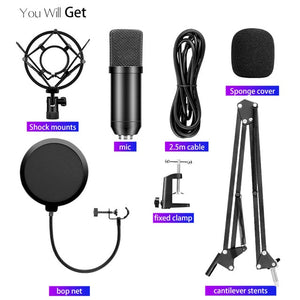 Podcast microphone condenser usb microphone BM800 BM700 recording studio equipment computer mic gaming desktop microphone stand-electronic-betahavit-A06-betahavit