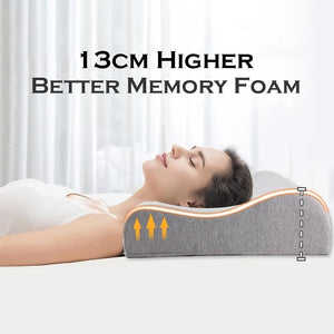 13cm High Memory Foam Contour Orthopedic Pillow Neck Cervical Vertebra Support Neck Care Bedding Pillow Slow Rebound-home-betahavit-betahavit