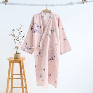 Bathrobe Women Dressing Gown Cotton Bath Robe 2020 New Womens Robes Sleepwear Morning Robe Cartoon Print Kimono Feminino-home-betahavit-fenmozhu-L-betahavit