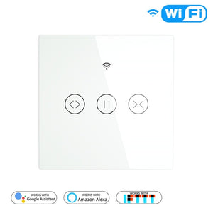 RF WiFi Smart Touch Curtain Blinds Roller Shutter Switch Tuya Smart Life App Remote Control,Work with Alexa Echo Google Home-home-betahavit-Curtain Switch-China-100-240V-betahavit