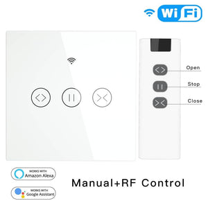 RF WiFi Smart Touch Curtain Blinds Roller Shutter Switch Tuya Smart Life App Remote Control,Work with Alexa Echo Google Home-home-betahavit-betahavit