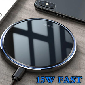 15W Mirror Wireless Charger For iPhone 11 X XS Max XR 8 Plus Qi Fast Quick Charge Pad For Huawei P30 Pro Xiaomi Mi9 Samsung-electronic-betahavit-betahavit
