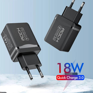 18W QC 3.0 USB Quick Phone Charger Travel Wall Adapter 18W QC3.0 FCP Universal For Xiaomi iPhone Samsung Huawei EU Plug-electronic-betahavit-China-Black-betahavit