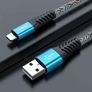 3.1A USB Cable For iPhone 11 Pro Max Xs Xr X 8 7 6 Plus 6s ipad Cord Fast Charging Data Mobile Phone Fast Cable-electronic-betahavit-Blue-0.5M-betahavit