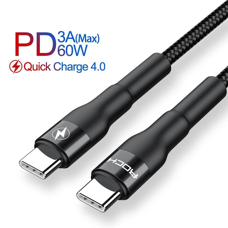 60W PD USB C to USB Type C Cable For Macbook Xiaomi Redmi Note 8 Pro Quick Charge QC4.0 PD Fast Charging Data Charger Cable
