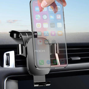Metal Car Phone Mount Holder For iPhone Samsung Foldable Gravity Mobile Phone Holder for Dashboard Paste Car Holder Stand-electronic-betahavit-betahavit