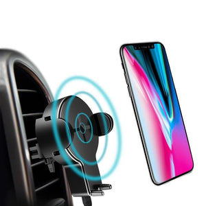 Car Wireless Charger Holder for iPhone X 8 Samsung Galaxy S8 S7 S6 Note 8 Plus Fast Wireless Charging Pad-electronic-betahavit-Universal-betahavit