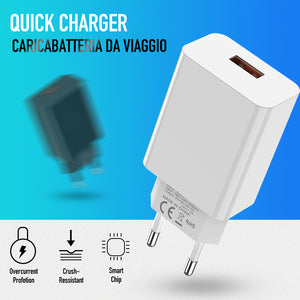 Quick Charge 3.0 18W QC 3.0 4.0 Fast charger USB portable Charging Mobile Phone Charger For iPhone Samsung Xiaomi Huawei-electronic-betahavit-White-betahavit