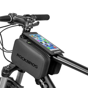 "2 IN 1 Cycling Bag Waterproof Touch Screen Bicycle Bag MTB Road Bike Top Tube Frame 6.0"" Screen Removable Phone Bags-outdoor-betahavit-China-betahavit"