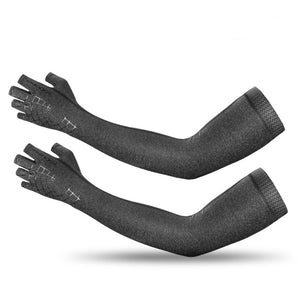 2 In 1 Sport Arm Sleeve Glove Breathable Elasticity Running Hiking Driving Sleeves Arms Warmer Glove For Sun Protection-outdoor-betahavit-Gray-L-China-betahavit