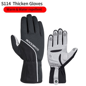 40 Degree Winter Cycling Gloves Thermal Waterproof Windproof Mtb Bike Gloves For Skiing Hiking Snowmobile Motorcycle-outdoor-betahavit-s114Black-S-China-betahavit