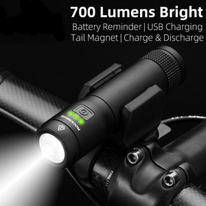 700 Lumens Bike Light USB Rechargeable 2600mAh Waterproof Bicycle Light Magnetic Headlight Outdoor Camping Flashlight-outdoor-betahavit-China-betahavit