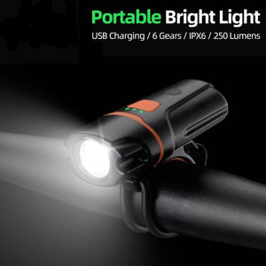 Bicycle Front Rechargeable Light Cycling Bike Flashlight Waterproof Headlight Bicycle Lamp Power Bank Bike Accessories-outdoor-betahavit-White-China-betahavit