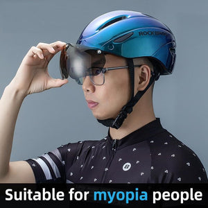 Bicycle Helmet Men EPS Integrally-molded Breathable Cycling Helmet Men Women Goggles Lens Aero MTB Road Bike Helmet-outdoor-betahavit-betahavit