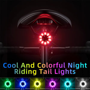 Bicycle Rear Light USB Charging Safety Warning Cycling Light Colorful Bicycle Tail Light Bike Light Bike Accessories-outdoor-betahavit-China-betahavit