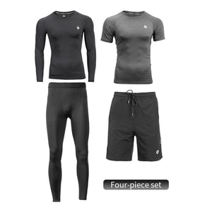 Men's Sport Suits Running Sets Quick Dry Sweat-absorbent Sports Joggers Training Gym Fitness Tracksuits Running Sets-outdoor-betahavit-Four-piece set-China-XXL-betahavit