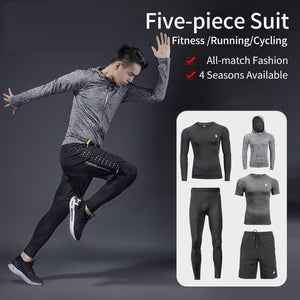 Men's Sport Suits Running Sets Quick Dry Sweat-absorbent Sports Joggers Training Gym Fitness Tracksuits Running Sets-outdoor-betahavit-betahavit