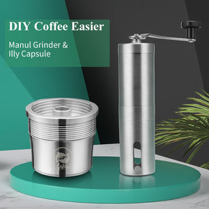Metal Filter For illy Coffee Machine Cafe Capsules Cup Stainless Steel Reusable Coffee Baskets Pods Manual Grinder-home-betahavit-betahavit