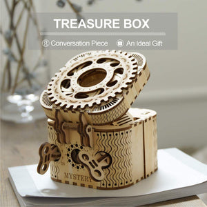 123pcs Creative DIY 3D Treasure Box Wooden Puzzle Game Assembly Toy Gift for Children Teens Adult LK502-toys-betahavit-Treasure box-China-betahavit