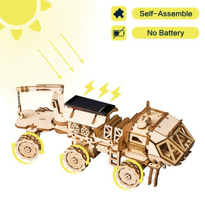 Creative DIY 3D Discovery Rover Moveable Solar Energy Powered Model Building Kits Toy Gift for Child Adult LS504-toys-betahavit-Discovery Rover-China-betahavit