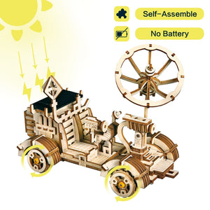 Moveable Moon Buggy Solar Energy Toy 3D DIY Laser Cutting Wooden Model Building Kits Gift for Children Adult LS401-toys-betahavit-China-Moon Buggy-betahavit